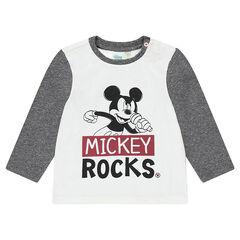 Tee-shirt manches longues en jersey Disney print Mickey