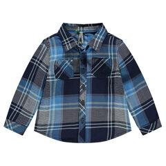 Chemise manches longues à carreaux