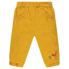 Pantalon en velours milleraies doublé jersey