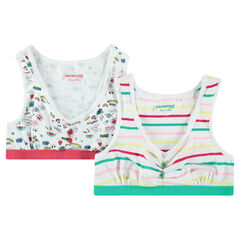 Junior - Lot de 2 brassières imprimées en jersey