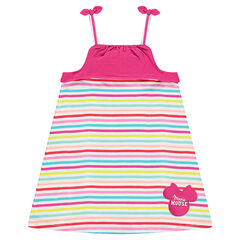 Robe rayée multicolore avec patch Disney Minnie