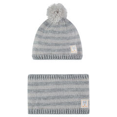 Ensemble bonnet et snood en tricot doublés micropolaire