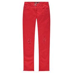 Junior - Pantalon skinny uni effet used