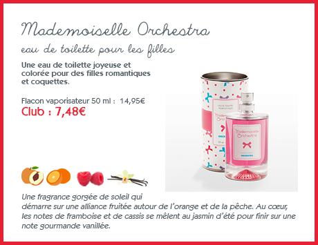 Eau de toilette fille Mademoiselle Orchestra