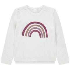 Pull en tricot uni avec motif fantaisie