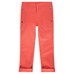 Pantalon en twill uni à poches