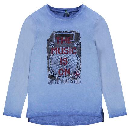 Junior - Tee-shirt manches longues surteint avec print fantaisie
