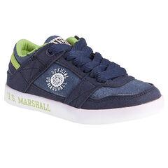 Baskets basses bi-matière à lacets US Marshall