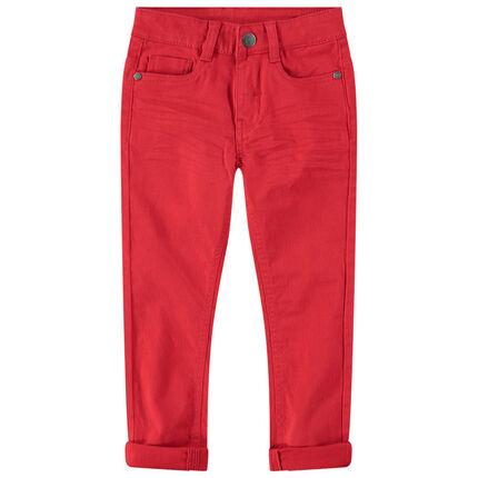 Pantalon en twill surteint avec poche fantaisie au dos