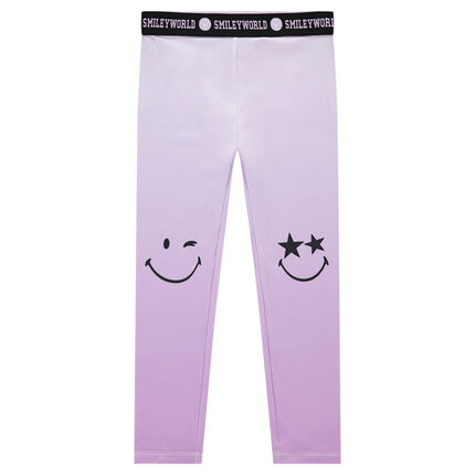 Legging effet tie and dye avec prints Smiley