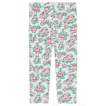 Legging mi-mollet en jersey ©Disney avec Minnie all-over