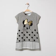 Robe manches courtes en tricot print Minnie avec sequins Disney