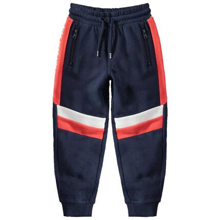 Pantalon de jogging en molleton avec touches contrastées