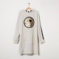 Junior - Robe sweat à capuche motif Smiley en sequins magiques