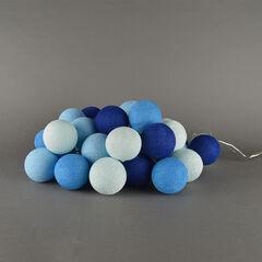 Cotton ball lights 20 pieces blue