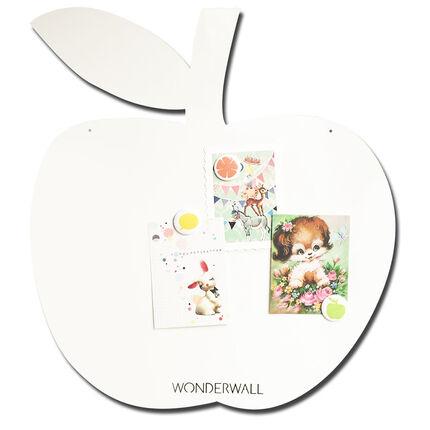 Tableau magnétique Pomme 50 x 60 cm - Blanc