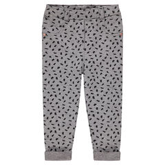 Jegging imprimé all-over avec rivets forme coeur