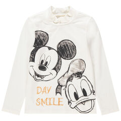 Sous-pull col cheminée print Donald et Mickey Disney
