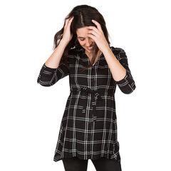 Chemise manches longues de grossesse à larges carreaux