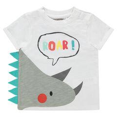 Tee-shirt en coton organique avec motif fantaisie printé