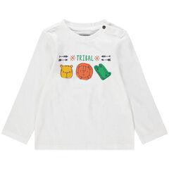 T-shirt manches longues print animaux de la jungle