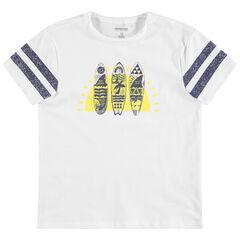 Junior - T-shirt manches courtes à planches printées
