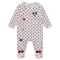 Dors-bien en jersey à pois all-over avec broderie Disney Minnie