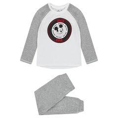 Pyjama en molleton Disney avec patch Mickey