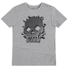 Junior - T-shirt manches courtes avec tête de mort graphique printée