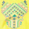 Tee-shirt court avec print pailleté
