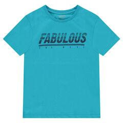 Junior - Tee-shirt manches courtes en jersey avec message printé