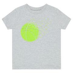 Tee-shirt manches courtes print balle de tennis en gomme