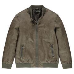 Junior - Blouson en simili cuir avec poches zippées