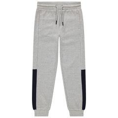 Junior - Pantalon de jogging en molleton fantaisie chiné