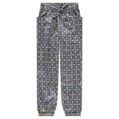 Junior - Pantalon en crêpe de polyester avec imprimé graphique all-over