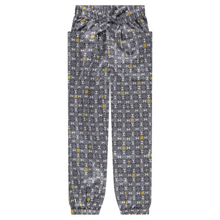Junior - Pantalon en crêpe de polyester avec imprimé graphique all-over