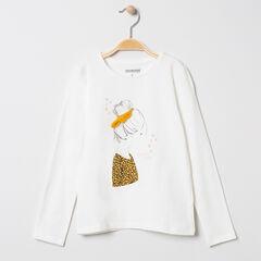 T-shirt manches longues print fillette