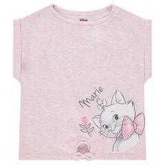 Tee-shirt manches courtes en jersey forme boîte ©Disney avec print Marie