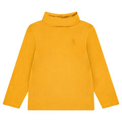 Sous-pull en jersey uni à col roulé avec logo brodé