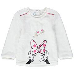 Sweat en sherpa Minnie Disney brodée