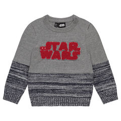 Pull en tricot avec inscription en bouclette Star Wars™