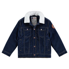Veste en jeans doublée sherpa avec col sherpa