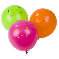 Lot de 10 ballons d'anniversaire gonflables motif chat , Prémaman