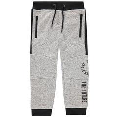Pantalon de jogging effet chiné