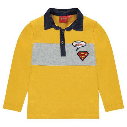 Polo manches longues avec badges ©Warner Superman