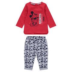Enemble avec tee-shirt print Mickey vintage ©Disney et pantalon all-over