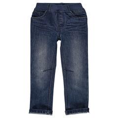 Jeans à taille élastiquée