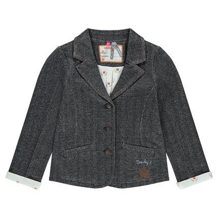 Veste de tailleur à chevrons doublée jersey