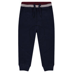 Pantalon de jogging en molleton avec découpes sur les jambes