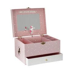 Boîte musicale Licorne - Rose